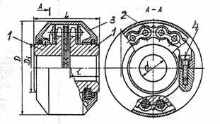 Муфта упругая втулочно-пальцевая - МУВП (ГОСТ 21424-93).